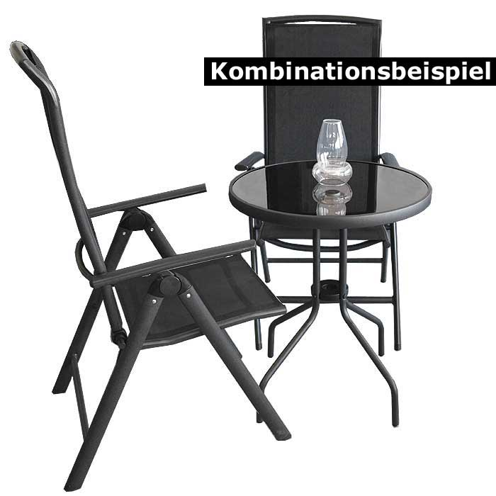 bistrotisch gartentisch balkontisch glastisch metall 60cm. Black Bedroom Furniture Sets. Home Design Ideas