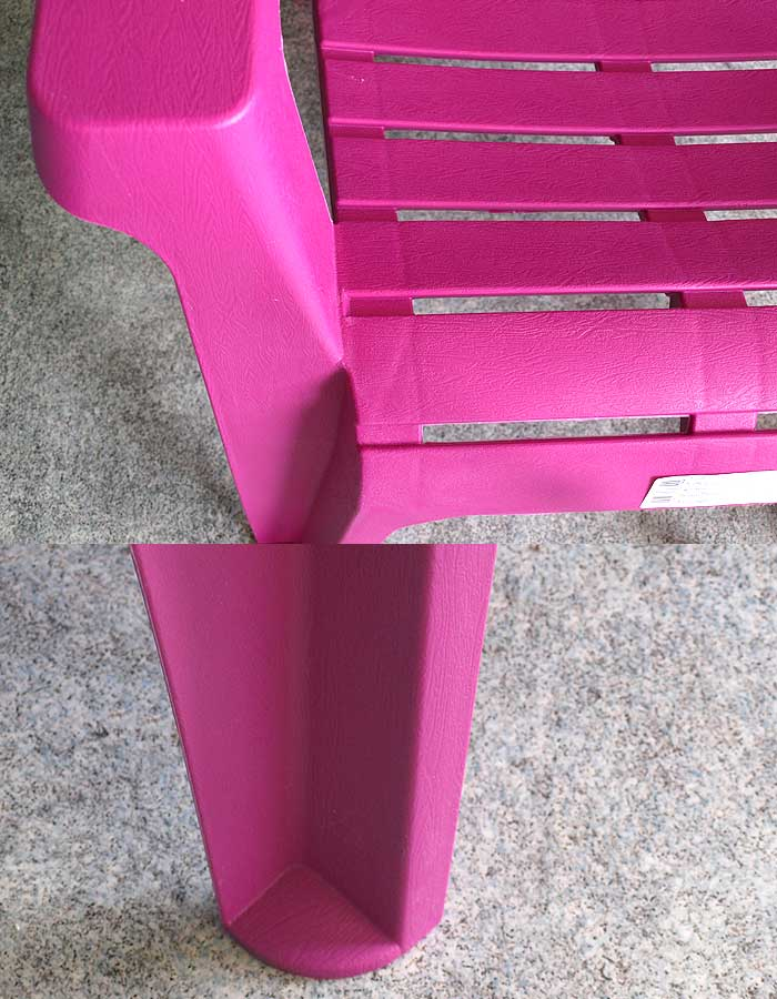 adirondack chair gartenstuhl kunststoff gartensessel stapelstuhl pink ebay. Black Bedroom Furniture Sets. Home Design Ideas