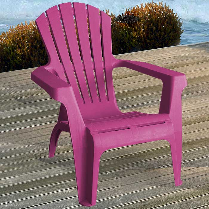 2 st ck adirondack chair gartenstuhl kunststoff gartensessel stapelstuhl pink ebay. Black Bedroom Furniture Sets. Home Design Ideas