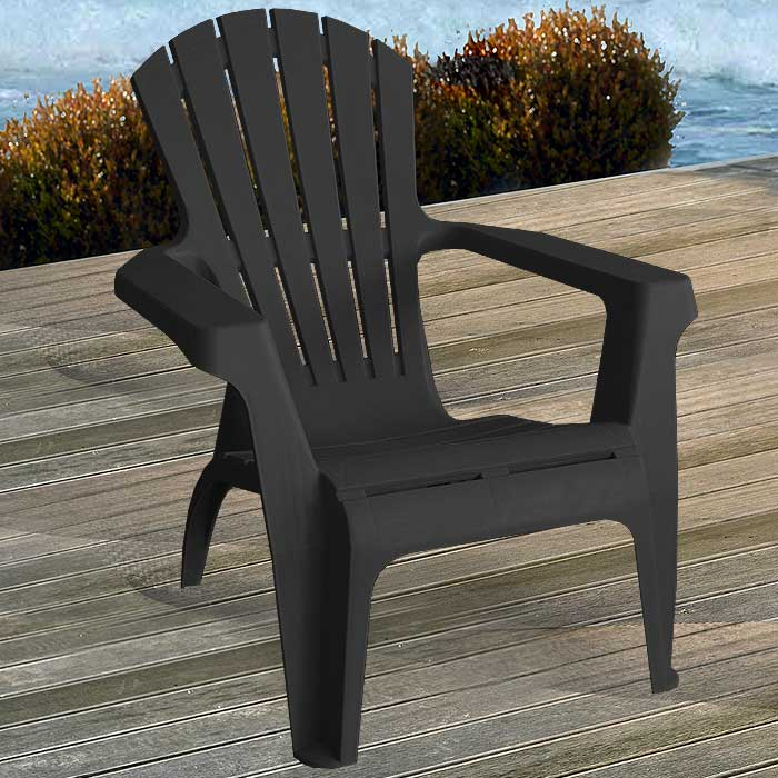 2 st ck adirondack chair gartenstuhl kunststoff gartensessel stapelstuhl schwarz ebay. Black Bedroom Furniture Sets. Home Design Ideas