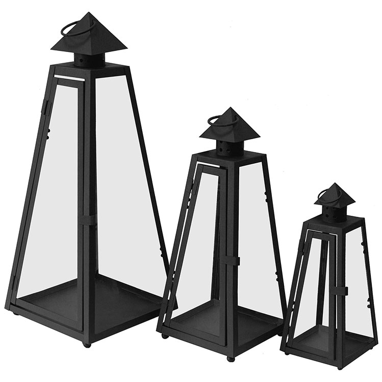 3er set laterne gartenlampe gartenlaterne windlicht metall glas ebay. Black Bedroom Furniture Sets. Home Design Ideas