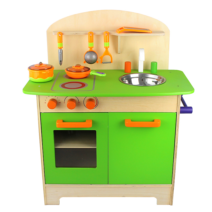 10tlg kinderk ce kinder holzk che spielzeugk che inkl zubeh r 70x60x33cm ebay. Black Bedroom Furniture Sets. Home Design Ideas
