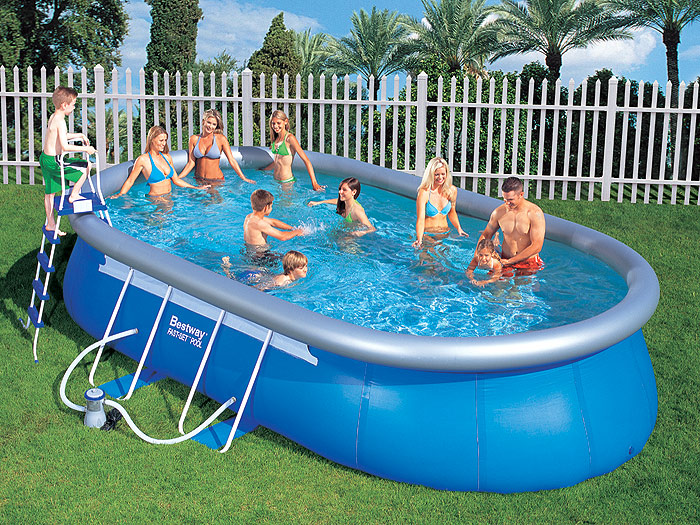 bestway swimmingpool 610x366x122cm quickup fast set pool pumpe leiter zubeh r ebay. Black Bedroom Furniture Sets. Home Design Ideas